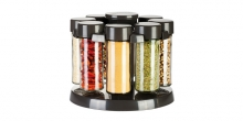 Spice jars in rotating stand SEASON 8 pcs, anthracite