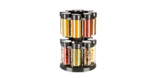 Spice jars in rotating stand SEASON 16 pcs, anthracite