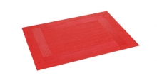 Place mat FLAIR FRAME 45x32 cm, red