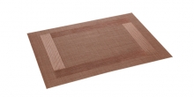 Place mat FLAIR FRAME 45x32 cm, brown