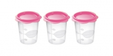 Baby food container BAMBINI, 200 ml, 3 pcs