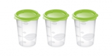 Baby food container BAMBINI, 250 ml, 3 pcs