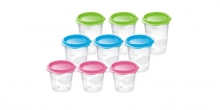 Baby food containers BAMBINI, 9 pcs