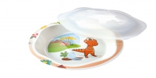 Plate with lid DINO