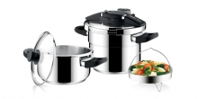 Pressure cooker PRESIDENT DUO 4.0 and 6.0 l