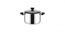 Deep pot PRESTO with cover, ø 18 cm, 3.0 l