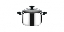 Deep pot PRESTO with cover, ø 22 cm, 5.5 l
