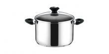 Deep pot PRESTO with cover, ø 24 cm, 7.0 l