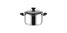 Deep pot PRESTO with spout and cover, ø 18 cm, 2.5 l