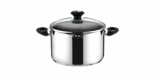 Deep pot PRESTO with spout and cover, ø 24 cm, 6.0 l