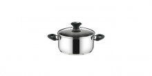 Casserole PRESTO with cover, ø 14 cm, 1.0 l
