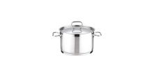 Deep pot HOME PROFI with cover ø16 cm