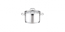 Deep pot HOME PROFI with cover ø18 cm