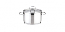Deep pot HOME PROFI with cover ø22 cm