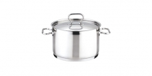 Deep pot HOME PROFI with cover ø24 cm
