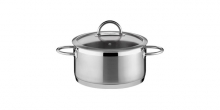Casserole VISION ø22 cm with cover, 4.0 l