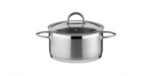 Casserole VISION ø24 cm with cover, 5.0 l