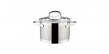 Deep pot PRESIDENT with cover ø 16 cm, 2.0 l