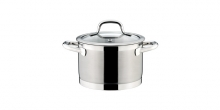 Deep pot PRESIDENT with cover ø 18 cm, 3.0 l