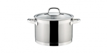 Deep pot PRESIDENT with cover ø 22 cm, 5.5 l
