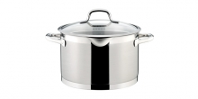 Deep pot PRESIDENT with straining cover ø 24 cm, 7.0 l