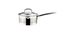 Saucepan PRESIDENT with straining  cover ø 16 cm, 1.5 l