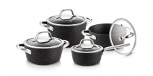 Cookware set PRESIDENT Stone, 8 pcs