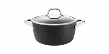 Casserole PRESIDENT Stone with cover ø 24 cm, 4.5 l