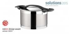 Deep pot ULTIMA with cover ø 22 cm, 5.5 l