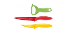 Non-stick knives and peeler PRESTO TONE, set of 3
