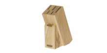 Block WOODY for 5 knives, poultry shears