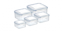Container FRESHBOX 5 pcs, square
