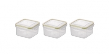 Mini container FRESHBOX, 3 pcs, square