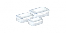 Container FRESHBOX 3 pcs, 0.2, 0.5, 1.0 l, rectangular