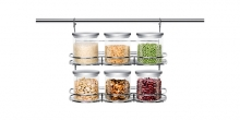 Twin-level rack MONTI, for 6 jars
