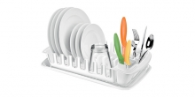 Drainer with tray CLEAN KIT, white