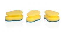 Gąbki kuchenne CLEAN KIT, 3 sztki, do delikatnych powierzchni