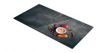 Стеклянная откладная пластина для плиты ONLINE 30 х 52 см, соль и чили