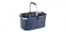 Folding shopping basket SHOP! denim style