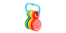 Shopping trolley tokens SHOP!, 5 pcs