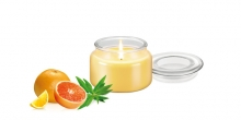 Scented candle FANCY HOME 200 g, Verbena