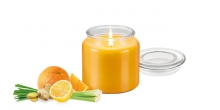 Scented candle FANCY HOME 410 g, Lemon grass
