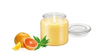 Scented candle FANCY HOME 410 g, Verbena