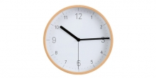 Reloj de pared FANCY HOME, madera, blanco