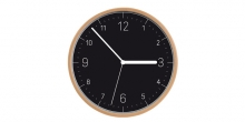 Reloj de pared FANCY HOME, madera, negro