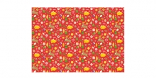 Christmas wrapping paper 70 x 100 cm, 6 pcs, red