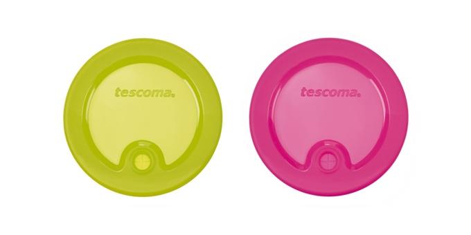 TESCOMA víčka na sklenice FAME, 2 ks, zelená, růžová