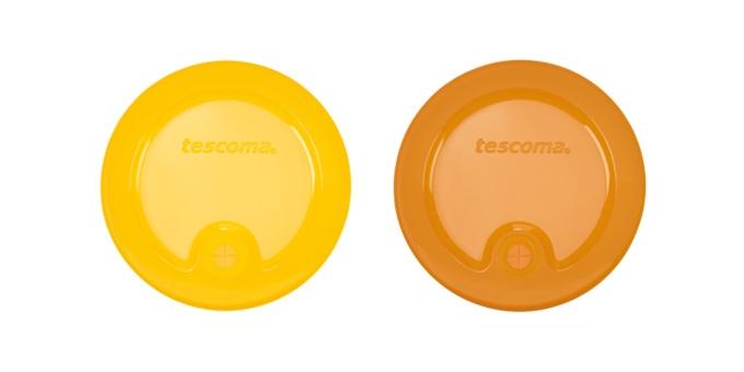 TESCOMA víčka na sklenice FAME, 2 ks, žlutá, oranžová