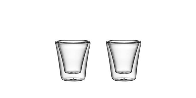 Szklanka z podwójną ścianką myDRINK, 70 ml, 2 szt.