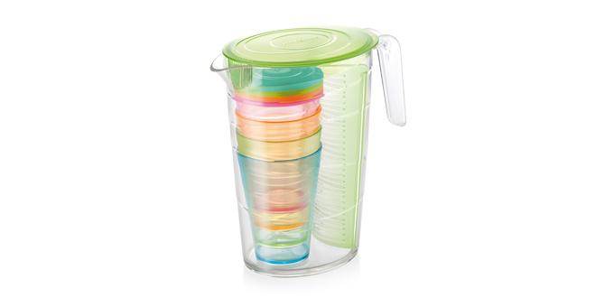 TESCOMA džbán myDRINK 2.5 l, 4 poháry s víčkem, zelená